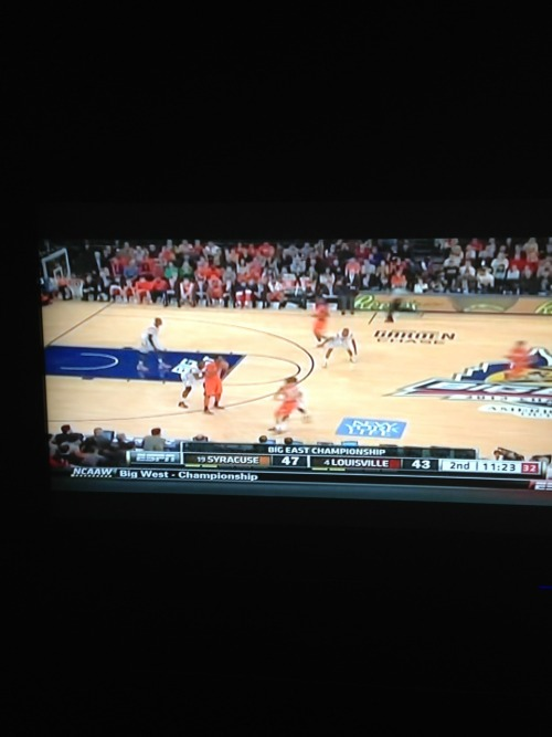 My night, watching the Big East Game 😌