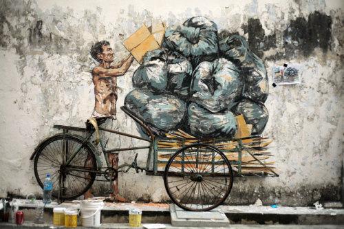 jedavu:Fascinating Street Art by Ernest Zacharevic