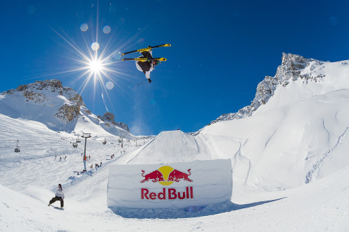 The storm passed & it was an epic day on the hill today! - X Games Tignes