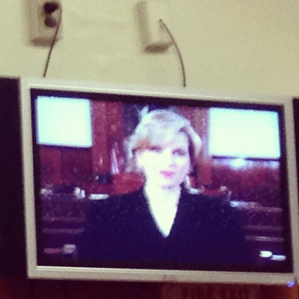 "This is Diane Sawyer trying to convince a room full of potential jurors that our experience will be as dramatic as ""CSI and Law & Order"" http://bit.ly/12UTefG"