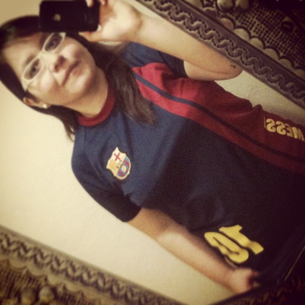 #FcBarcelona #Messi #10 ;) new jersey 💚