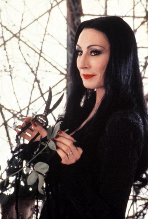 nearlyvintage:  THE ADDAMS FAMILY, Anjelica Huston, 1991