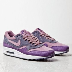 "This Air Max 1 in purple suede has a hint of the ""Dunk Ugly Ducklings Pack. Anyone remember those? (at freshnessmag.com)"