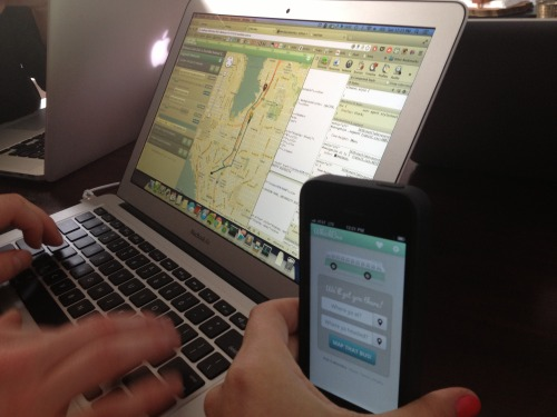 Prototype of the WhichBus iPhone app