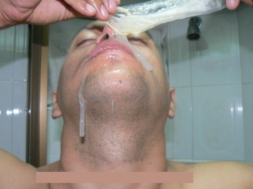 Eating Cum from a Condom