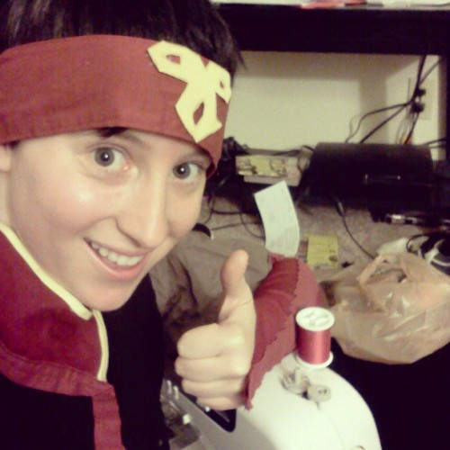 bordersyo:  Working on #cosplay for #fanime ahh yee  lookin good!