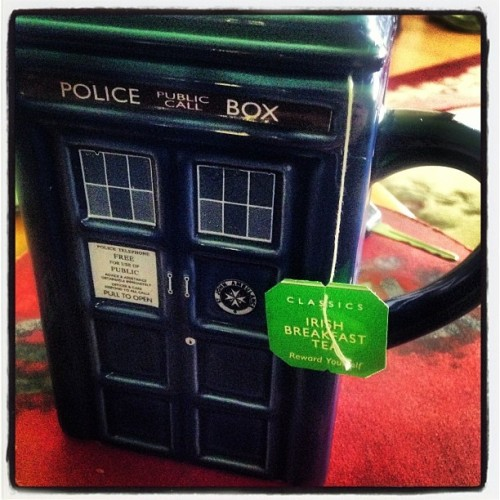 im-a-hero:  Mom made tea:) #tardis #doctorwho #tea