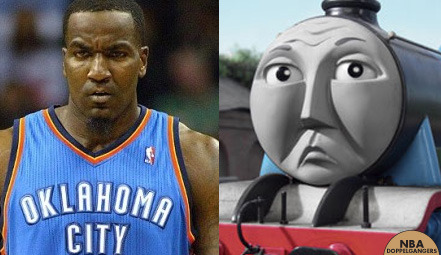 nbadoppelgangers:  Kendrick Perkins | Gordon the Big Engine