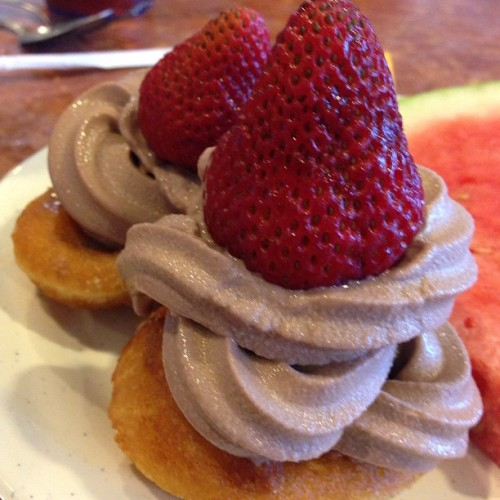 My DIY dessert at Empire Buffet.  🍓🍦🍩
