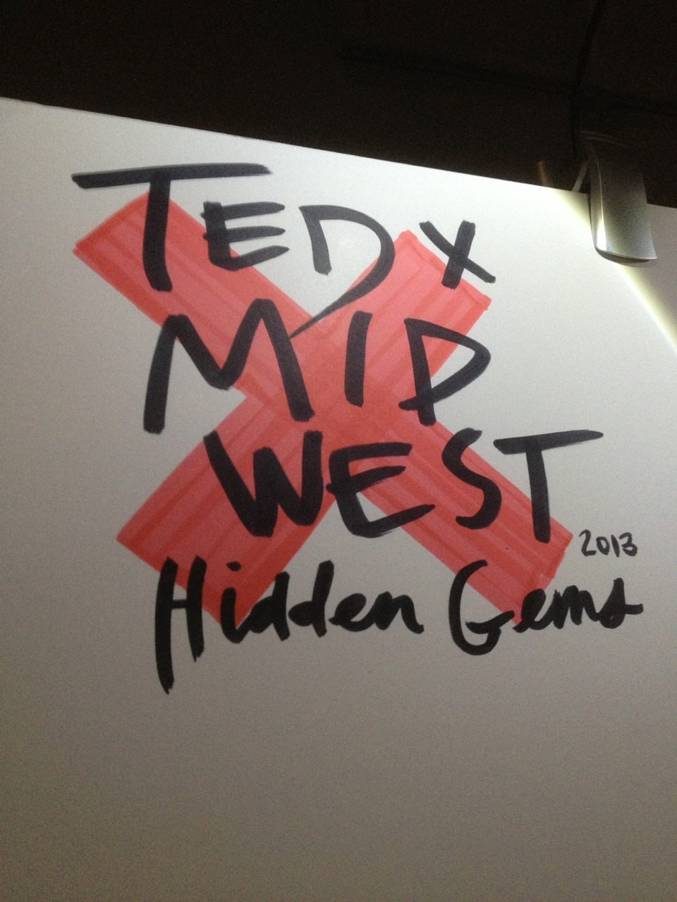 "I'm visualizing all of the ideas at TEDxMidwest this week. 33 speakers over 2 days will turn into 6 massive ""pages"" of sketchnotes, which you'll be seeing here shortly. To see some teasers from the day, pop on over to @craightonberman on Twitter."