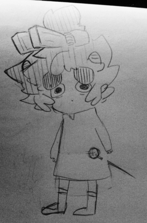 caledscratch:  jionttt:  I watched Arietty today Heres a karkat  hes GOT A PIN AAA