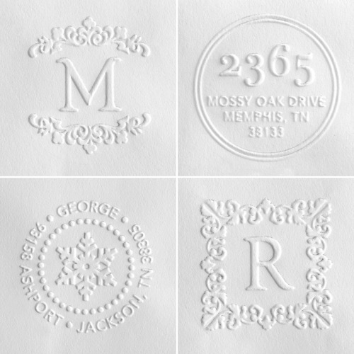everlytrue:  Embossed Address Labels