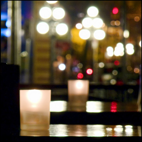 Candlelit Table for One by ecstaticist on Flickr.