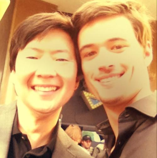 """Enjoying time on set with Ken Jeong. Can't wait for The Hangover Part III, man!"""