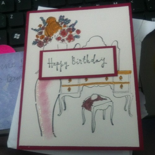 Lol! Got an early #birthday #card from my local #scrapbook store. Too cool!