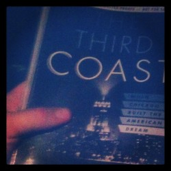 I covered this book, The Third Coast, by Thomas Dyja, for Next City. You can see my review here. Then, I had a really substantive conversation with the author, which we ran an edited version of here. It was kind of an amazing talk. I had to do it over the phone and try to type out as much as I could of what he said - which I don't like doing, because I knew I was missing a lot. It also made it hard for me to engage with what he was saying as well as I might have liked, because I was concentrating so hard on getting it down. Fortunately, I had prepared a bunch of questions in advance, so it was okay. But here's what surprised me: he and I talked on the phone for an hour. Me asking questions, then me typing furiously as he dropped all kinds of Chicago knowledge on me.  When we were done, I did a word count on what I'd typed. 4400 words.  IN ONE HOUR! Imagine… you really could write that much in an hour if you just had the focus. NaNoWriMo? Please. NaNoWri3DaysOnCoke, you know?