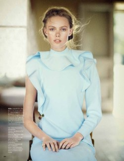 "garavani:  Frida Gustavsson in ""A Soft Dynamic"" by Boo George for Vogue Japan June 2013"