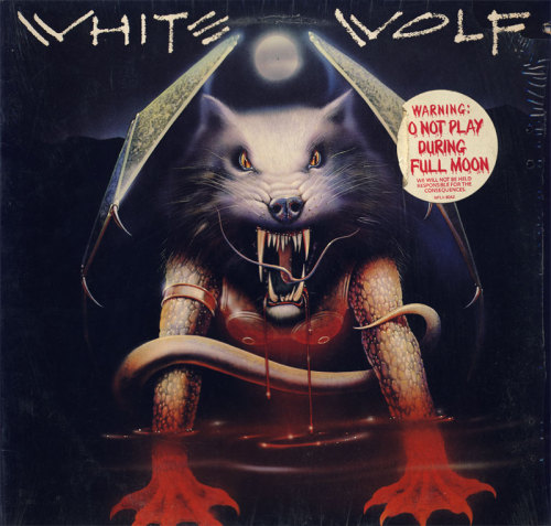 White Wolf - Standing Alone(1984) One funky metal album cover.