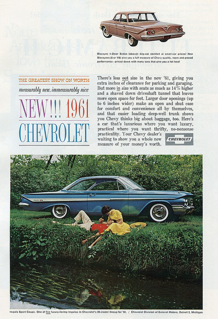 1961 Chevrolet Ad - November 1960 National Geographic by SenseiAlan on Flickr.1961 Chevrolet Ad - November 1960 National Geographic