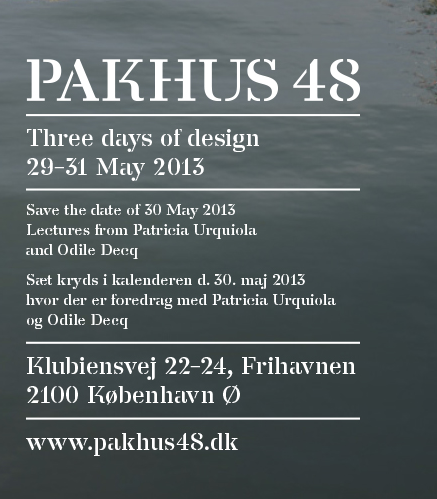 Three Days of Design in Copenhagen, Denmark. Celebrated in and around Copenhagen. E.g. at Pakhus48 where you find showrooms of e.g. Montana, Erik Jørgensen, GRID, Luceplan, VOLA, Kvadrat etc. This year there is lectures from Patricia Urquiola and Odile Decq, open showrooms, drinks and party. #allgoodthings #danish spotted by missdesignsays.