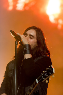 Jared Leto of 30 Seconds To Mars performs at the 2013 KROQ Weenie Roast