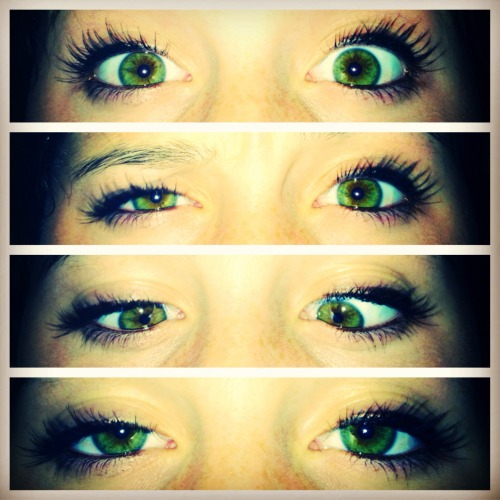 #eyes #green #cute