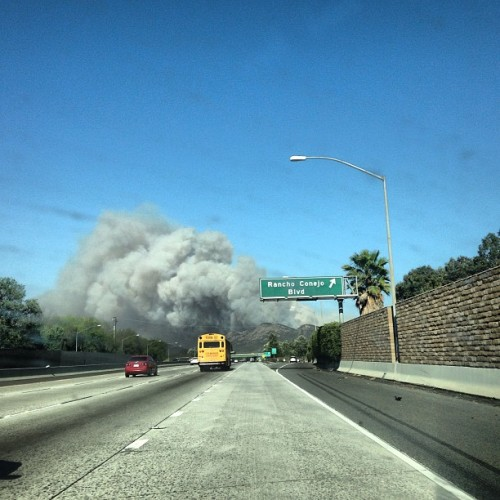 WTF! SoCal fires already? It's only 80F this morning #fire
