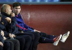 Messi on bench