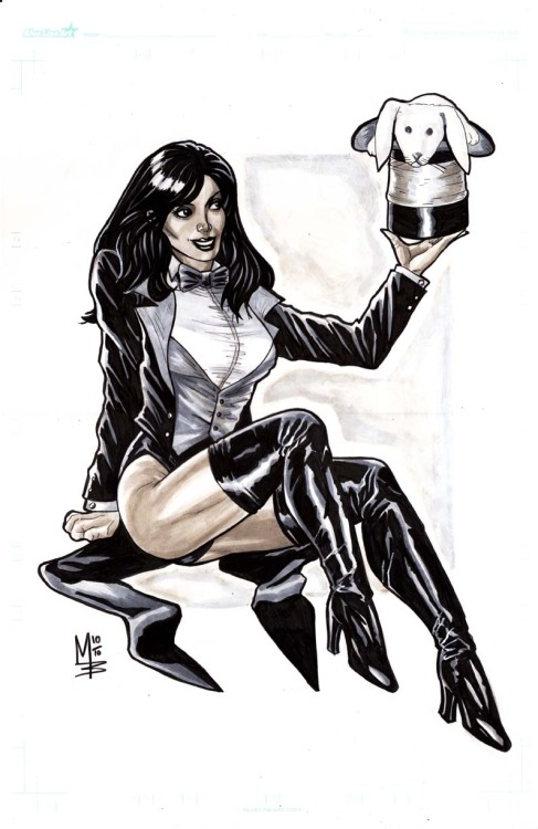 Zatanna by Monte Baldwin Kicking off Magic Monday