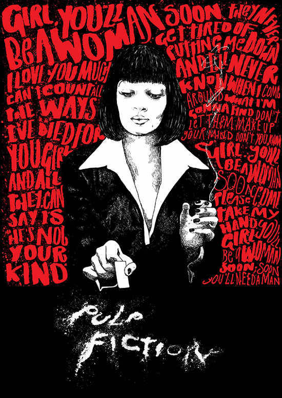 cherieleau:  Omfg I think this is the best pulp fiction artwork ever in my opinion