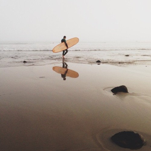 Sliding on the Sabbath #whpfoggy #surf #reflection