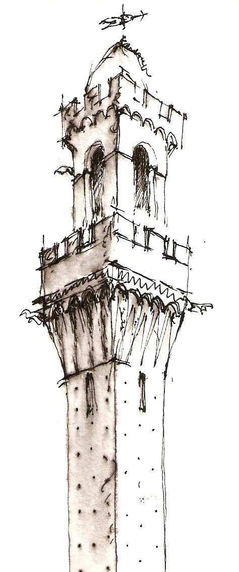 fpcdraws:  Siena Tower.