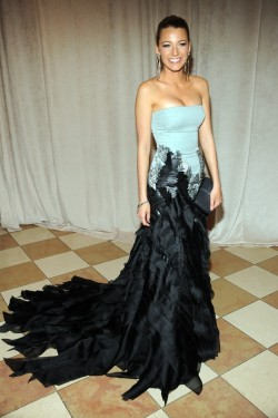 womensweardaily:    Blake Lively in Gucci at the Met Gala Photo by Steve Eichner   She is looking stunning in that dress!