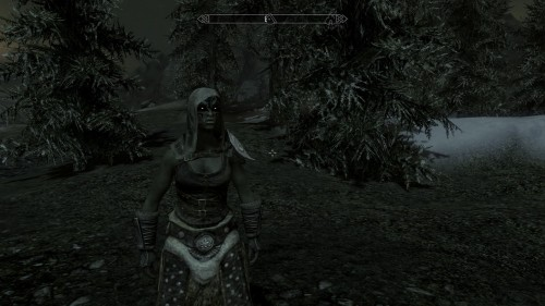 "So I made an vampire orc lady with the ""Live Another Life"" mod and discovered two things - 1) The position of yourself and the body you drink from is very important, otherwise you get really awkward moments like the first image. 2) Vampire fledglings are dumbasses who try to play the drums with tankards."