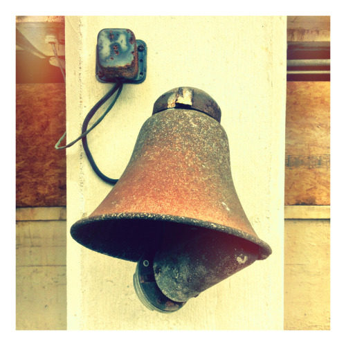 Not a bell - at an old factory, it used to make a lot of noise. Now, it #rusts in peace.