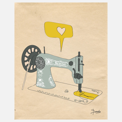 "I Am Sew Creative, 27% off now featured on Fab.Fab.comA Connecticut-based artist with a penchant for all things adorable, Susana Parada creates sunny illustrations designed to motivate and inspire. Part of Parada's ""It's A Passion"" series, this digital print features a whimsical illustration of a sewing machine that was hand-drawn and digitally colored."