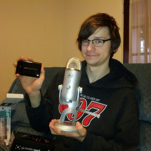 Gave Michael his Xman presents early. #Yeti #Elgato #Christmas #Boyfriend #Gay