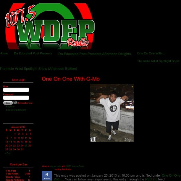 Click the link to check out my interview with DJ Jackmaster Nored at WDEP  http://1075wdep.com/g-mo/