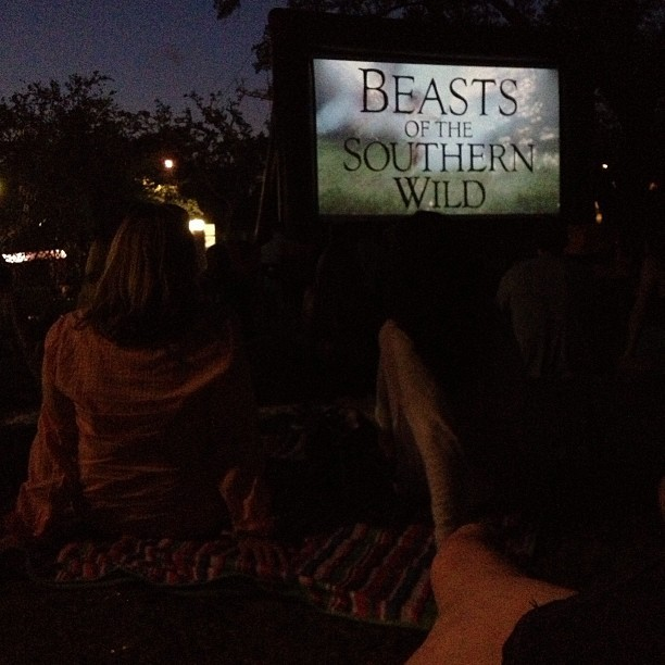 Lovely night for an outdoor movie. (at City Park Sculpture Garden)