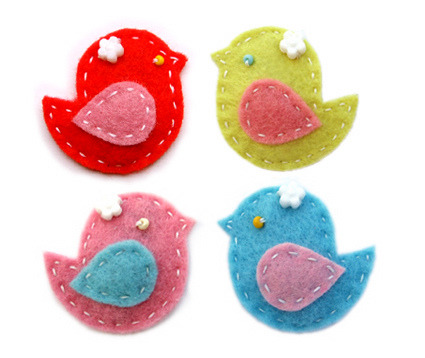 I love these sweet felt birdies!