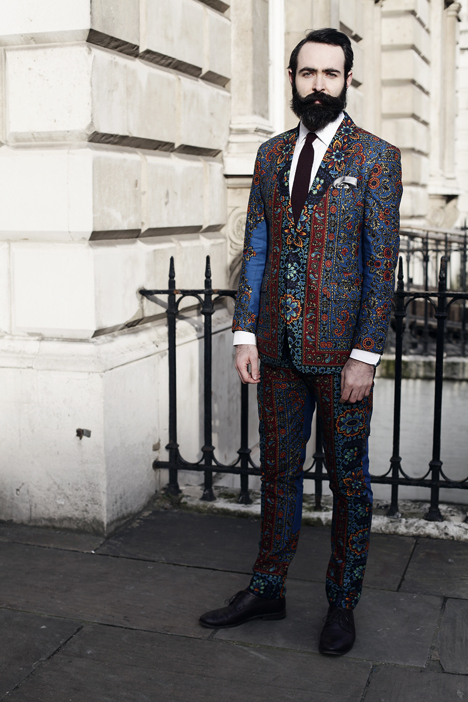 terrancejdemons:  An allover print on a suit, done the right way