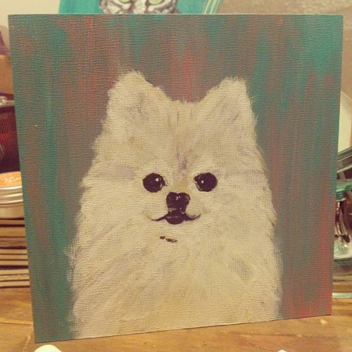 tommypom:  mememolly:  Sometimes you're like, I wish I had a painting of my favourite Pomeranian & so you just make one #tommypom @tommypom  OMPOM.. that's.. me!!