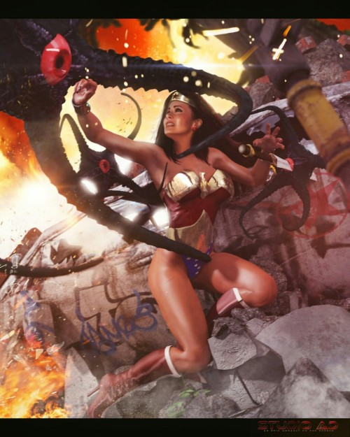 Defend the Earth from the evil Starro this #wonderwomanwednesday :-)     #Art byhttp://artdude41.deviantart.com