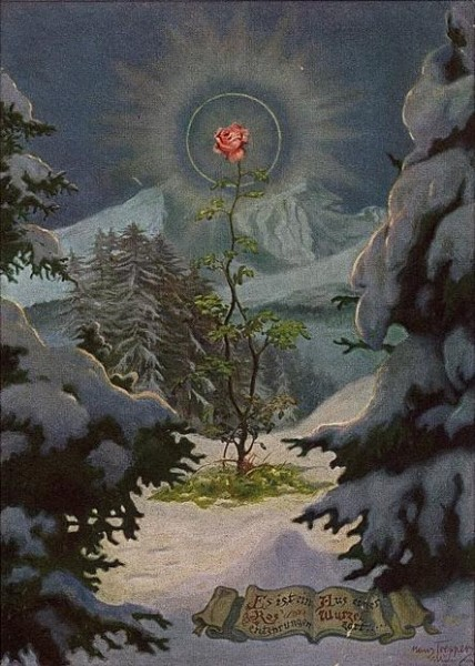 "derwiduhudar:  Hans Toepper (German, 1885-1956), ""Rose made ​​its way from the root """
