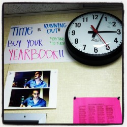 Clock banners for yearbook! #yearbookies #yearbook #heyteach #marketing #whattimeisit #whosthehottieinthecorner #jthair #schoolsout (at Room 18 ✏📓📋💻)