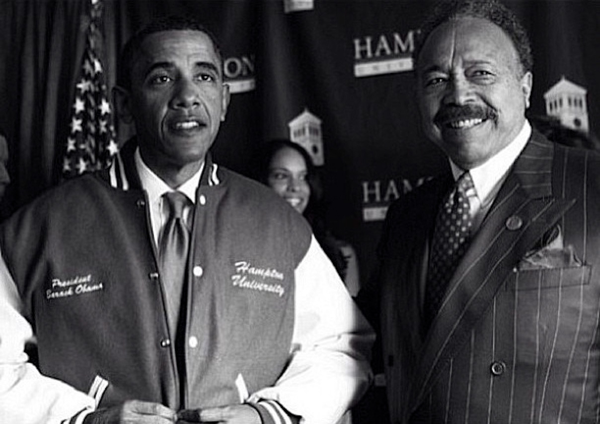 obama x harvey. hampton university