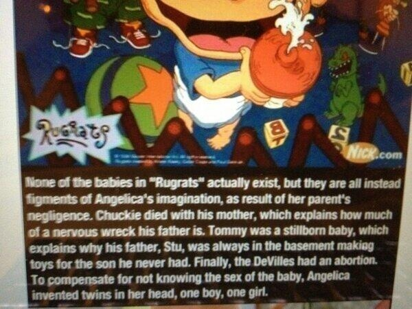 your-right-is-wrong:  mscandy:  my childhood successfully ruined.   Reblogging for the LBT one. Fuck