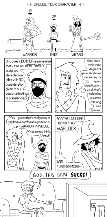 forlackofabettercomic:  If your Privilege stat is above 20, you are forced to roll a Privilege Check before each conversation.