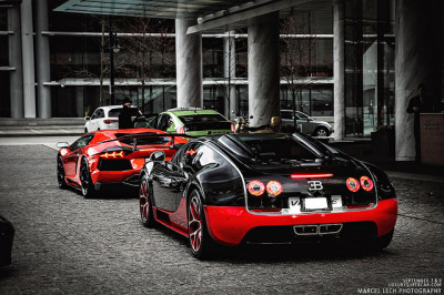 amazingcars:  Veyron Vitesse + Aventador by Marcel Lech on Flickr.