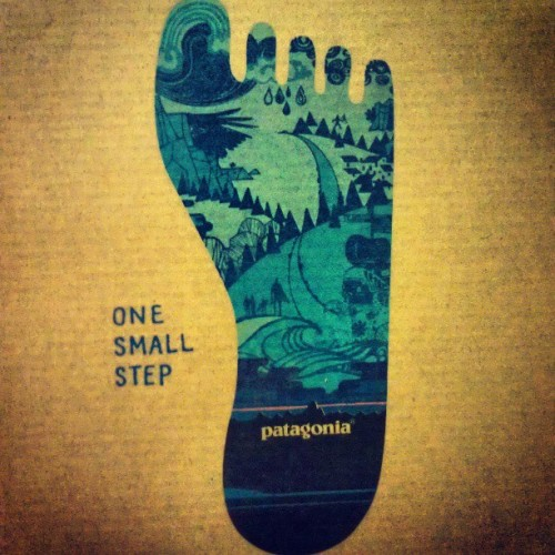 #patagonia #foot #footprint #blue #hiking #onesmallstep